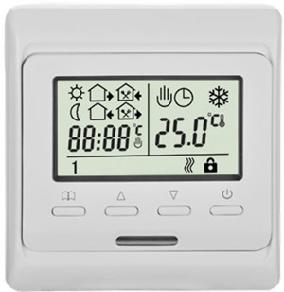 Программируемый терморегулятор, используемый для всех типов отопления, в т.ч. для управления подогревом...